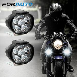 1 ペアオートバイヘッドライト 6500 18k ホワイト超高輝度 6 LED 作業スポットライトバイクフォグランプ 1200LM LED  k-2258