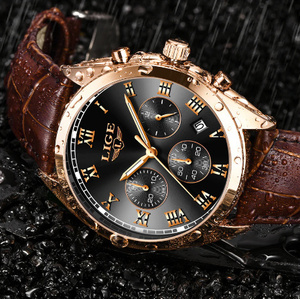 メンズ腕時計 高級防水 24 時間日付クォーツ時計 男性革スポーツ腕時計 レロジオ Masculino k-2317