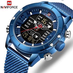 男性腕時計トップ 高級ブランド男ミリタリースポーツクォーツ腕時計 ステンレス鋼 LED デジタル時計 レロジオ k-2320
