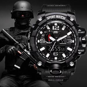 衝撃腕時計 男性ミリタリーアーミーメンズウォッチ リロイ Led デジタルスポーツ腕時計 自動腕時計男性 k-2302