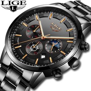 腕時計メンズ LIGE ファッションスポーツクォーツ時計メンズ腕時計トップブランドの高級ビジネス防水時計レロジオ Masculino k-2303