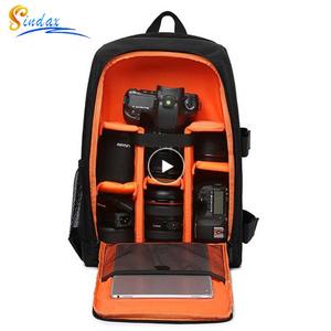 防水一眼レフリュックビデオデジタル一眼レフカメラバッグ 多機能屋外カメラ写真 バッグケース一眼レフ用レンズ k-2425