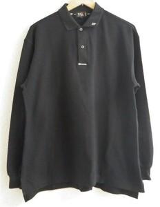23区 SPORT ニジュウサンク スポーツ 長袖 ポロシャツ メンズ サイズ 2 黒 ブラック オンワード樫山 日本製 ゴルフ ウエア