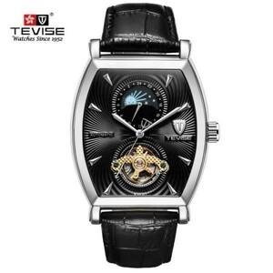 海外高級 2018年ブランド TEVISE アナログ腕時計 自動巻き メンズ プレゼント 機械式 自動巻き r防水 トゥールビヨン ムーンフェイズ