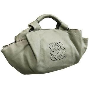 ● ロエベ ハンドバッグ ナッパアイレ レザー 革 グレー LOEWE アナグラム トートバッグ 手提げ バッグ バック カバン 鞄 レディース 女性