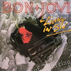 音楽CD ロック!! BON・JOVI Living in Sin ,新品同様