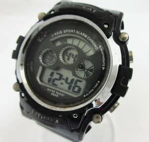良品 J-AXIS CYBEAT LITHIUM ソーラー腕時計 デジタル アラーム クロノ 稼働品   ★t321★