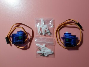 電子工作 RC用 180度 2個 超小型 サーボモーター servo motor