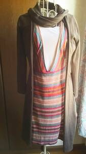 Total ko-tine-to One-piece * long cardigan * T-shirt 3 point together