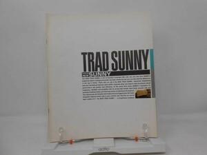K1■NISSAN(ニッサン・日産)TRAD SUNNY(トラッド サニー) 旧車カタログ 1988年■並/押印有、経年劣化・ヤケあり