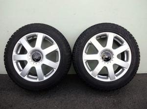 VW GOLF IVゴルフ4 BORAボーラ NEW BEETLEニュービートル純正アルミ6.5J +42 5H100 57.1 205/55R16スタッドレスブリヂストンブリザックレボ