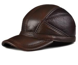 新品!牛革 ベースボールキャップ メンズ レディース レザー 本革帽子 パッチワーク 野球帽 ストラップバック フリーサイズ「色選択可」