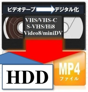 * videotape -HDD(mp4 file ). dubbing do!(HDD free .. equipped )DVD number minute service!