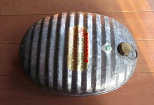 ☆鉄製品☆亜鉛鉄板:湯たんぽ:容量3,6L