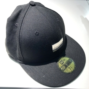 Yohji Yamamoto×NEW ERA ヨウジヤマモト ×ニューエラ 16SS メタルロゴキャップ 58.7 ブラック