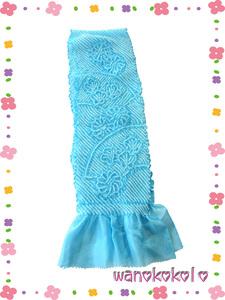 【和のこころキッズ】七五三◇女の子用正絹帯揚げ◇水色系