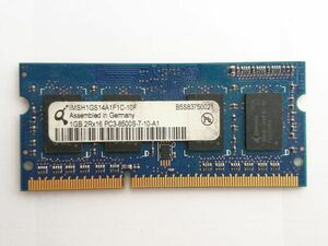 secondhand goods *Q memory 1GB 2Rx16 PC3-8500S-7-10-A1*1GBx1 sheets total 1GB