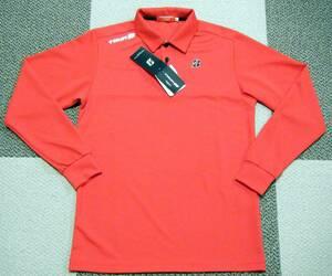 ブリヂストン BRIDGESTONE TOUR B ゴルフ用高機能ポロシャツ 長袖 赤色 サイズ S 吸汗速乾/ストレッチ/UVカット機能 定価 6,110円