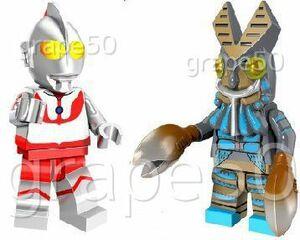 レゴ風★ウルトラマン vs バルタン星人★「侵略者を撃て(バルタン星人登場)」★ミニフィギュア:レゴ互換・レゴカスタム