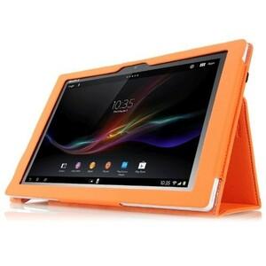 Xperia Z2 Tablet SO-05F/SOT21 レザー 保護ケース オレンジ