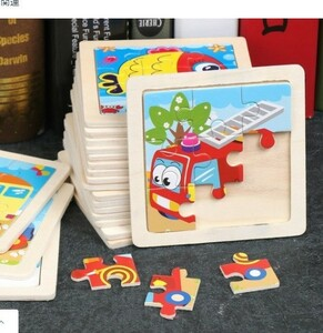 M558 木製の子供パズル早期教育おもちゃ木製トランペット9ピースパズル合板漫画動物屋台熱い販売卸売