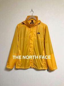 THE NORTH FACE PERTEX ザ ノースフェイス ナイロン ウインド ジャケット アウトドア イエロー サイズM 長袖 ゴールドウィン NP11810 黄