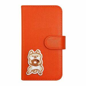 Xperia X Compact SO-02J PUレザー 手帳型 ケース オレンジ 柴犬 おしゃれ