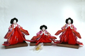 倉庫保管展示品/ひな人形「官女/五人囃子」(雛ごよみ/千匠・作)