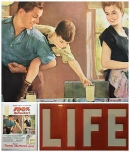 1950年代 LIFE誌切り抜き広告アンティークポスター★Channedジュース