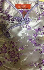 新品チャイナドレス花柄ロング