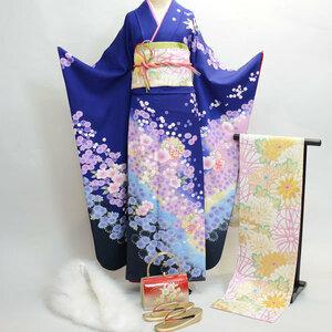 振袖フルセット 正絹 着物 7日間レンタル 百花繚乱 (株)安田屋 NO181
