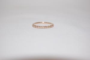 canal4℃ カナルヨンドシー K18 ピンクゴールド ダイヤモンド ハーフエタニティ リング 指輪 サイズ7号 美品!