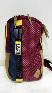 新品 SUPE design カラフル デザイン ビッグジップ ワンショルダー ビックボディ バック トート バッグ