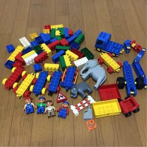 福袋 レゴ デュプロ ブロック色々セット 人形 飼育員 ぞう 汽車パーツ 特殊車両 クレーン車 特殊 フィグ 自動車 すべてまとめて