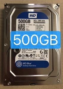 2160161* б/у инспекция settled WD*WD5000AAKX*500GB жесткий диск 3.5HDD SATA 7200rpm включение в покупку ok