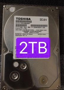 2160176★中古 検査済 TOSHIBA◆DT01ACA200V◆2TB ハードディスク 3.5HDD SATA 7200rpm 同梱ok