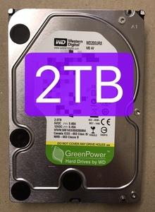 2160141* быстрое решение б/у инспекция settled б/у HDD 3.5 дюймовый 2TB AV предназначенный жесткий диск *[WD20EURX]WD AV включение в покупку OK