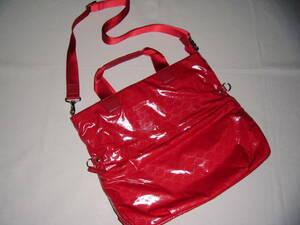 ■美品■Roberta di Camerino ロベルタ ディ カメリーノ 2WAY(ショルダーバッグ、ハンドバッグ)バッグ(赤)