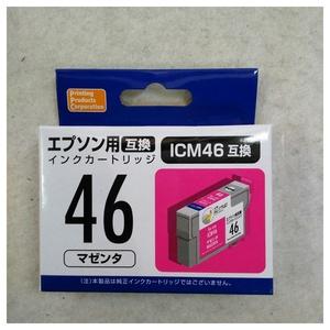 【未使用品】PPC EPSON ICM46(エプソンプリンター用互換インク) 汎用インクカートリッジ マゼンタ PP-EIC46M×2個セット