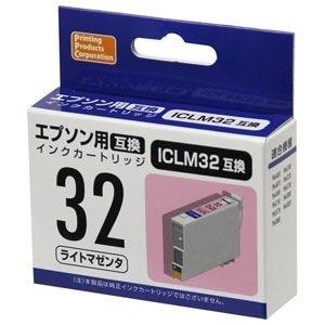 【未使用品】PPC EPSON ICLM32(エプソンプリンター用互換インク) 汎用インクカートリッジ ライトマゼンタ PP-EIC32LM