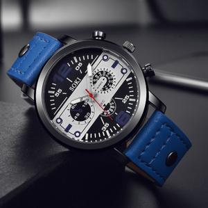 【f0095】1円~ ヴィンテージクォーツ 時計 男性 腕時計 トップブランド ブルー