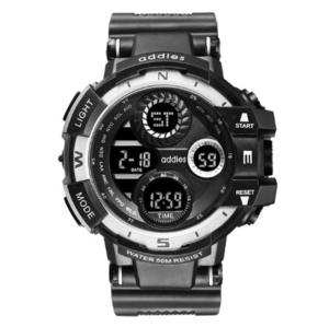 2020 スポーツウォッチ 50M防水 LED アウトドア 登山 サーフィン ミリタリー アーミー ビッグダイヤル 腕時計 ギフト ホワイト s0051