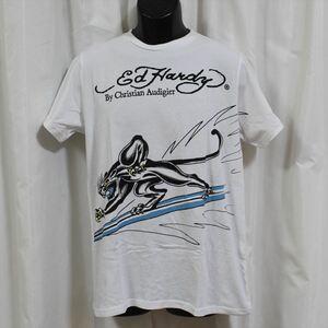 エドハーディー ED HARDY メンズ半袖Tシャツ Mサイズ ホワイト NO2 新品
