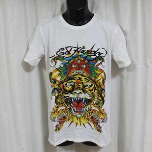 エドハーディー ED HARDY メンズ半袖Tシャツ Mサイズ ホワイト NO8 新品