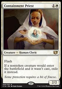 え白 封じ込める僧侶 1枚(3枚在庫s 英 良品 C14)/Containment Priest(MTG /統率者2014/統率者(2014年版)/Commander 2014/)