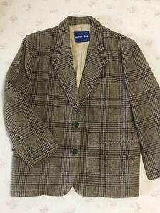 茶系・チェックのジャケット ツイードジャケット テーラードジャケット