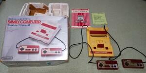 初代ファミコン本体 RFスイッチ 箱つき ジャンク品
