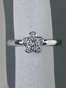 ◇美品【Ponte Vecchio/ポンテヴェキオ】ダイヤモンドリング K18WG 10号◇