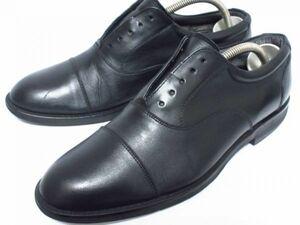 中古 REGAL 25.5 黒 ブラック リーガル ストレートチップ ビジネスシューズ メンズ 本革 靴 レザー 即決 ドレス ビックサイズ 革靴 スーツ