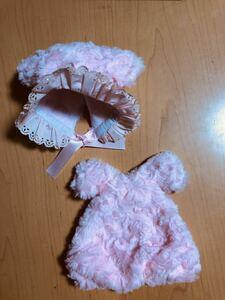 #ドール用#モフモフ耳付き帽子ピンクドレスセット